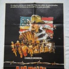 Cine: PÓSTER ORIGINAL A 20 MILLAS DE LA JUSTICIA 1983. Lote 211418126