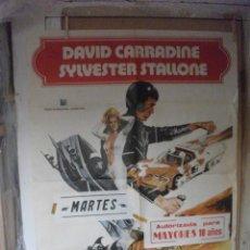Cine: LA CARRERA DE LA MUERTE DEL AÑO 2000, DAVID CARRADINE, SYLVESTER STALLONE. Lote 211481807