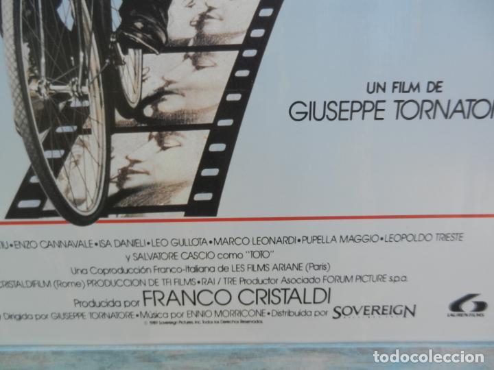 Cine: CARTEL ORIGINAL PELÍCULA CINEMA PARADISO - ENMARCADO - MIDE 107X76 CM. - Foto 2 - 211649906