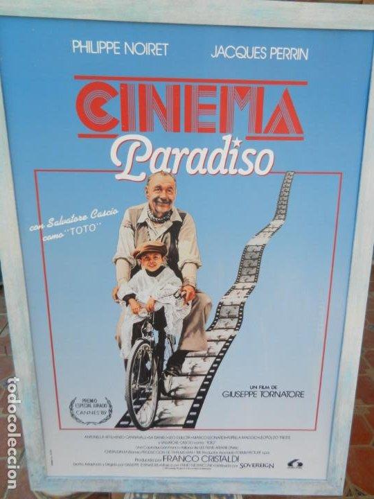 CARTEL ORIGINAL PELÍCULA CINEMA PARADISO - ENMARCADO - MIDE 107X76 CM. (Cine- Posters y Carteles - Drama)