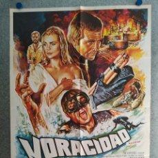 Cinéma: VORACIDAD, LAS PIRAÑAS ASESINAS. LEE MAJORS, KAREN BLACK, MARGAUX HEMINGWAY AÑO 1979 POSTER ORIGINAL. Lote 211673281