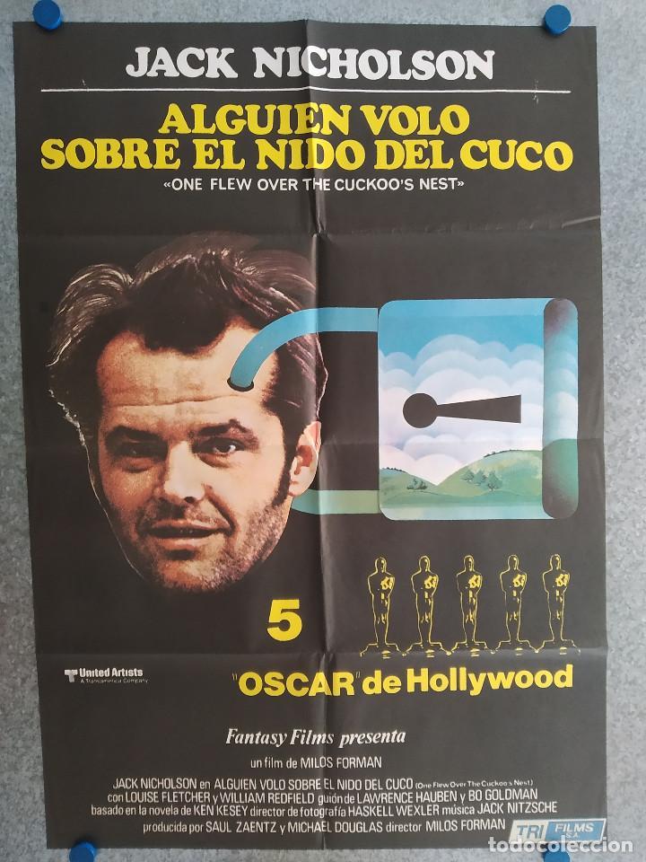 ALGUIEN VOLÓ SOBRE EL NIDO DEL CUCO. JACK NICHOLSON, LOUISE FLETCHER AÑO 1970 POSTER ORIGINAL (Cine- Posters y Carteles - Drama)