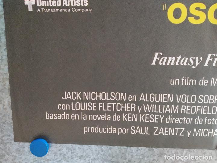 Cine: Alguien voló sobre el nido del cuco. Jack Nicholson, Louise Fletcher AÑO 1970 POSTER ORIGINAL - Foto 7 - 211673821