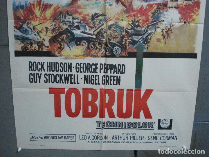 Cine: CDO 4032 TOBRUK ROCK HUDSON GEORGE PEPPARD POSTER ORIGINAL 70X100 ESTRENO - Foto 3 - 211675791