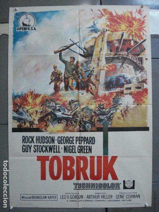 CDO 4032 TOBRUK ROCK HUDSON GEORGE PEPPARD POSTER ORIGINAL 70X100 ESTRENO (Cine - Posters y Carteles - Bélicas)