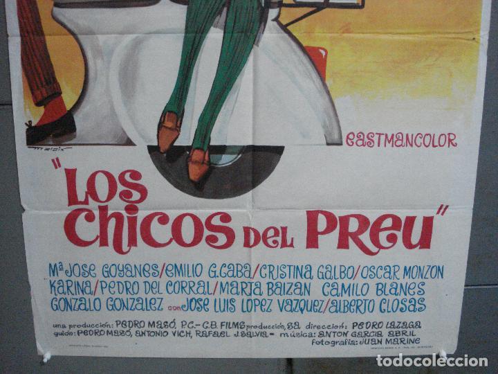 Cine: CDO 4034 LOS CHICOS DEL PREU VESPA KARINA CAMILO SESTO LOS PEKENIKES POSTER ORGINAL ESTRENO 70X100 - Foto 3 - 211676358