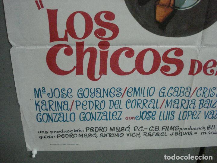 Cine: CDO 4034 LOS CHICOS DEL PREU VESPA KARINA CAMILO SESTO LOS PEKENIKES POSTER ORGINAL ESTRENO 70X100 - Foto 4 - 211676358