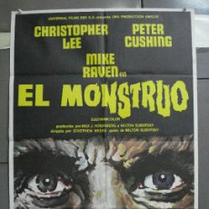 Cine: CDO 4036 EL MONSTRUO PETER CUSHING CHRISTOPHER LEE MCP POSTER ORIGINAL 70X100 ESTRENO. Lote 211677154