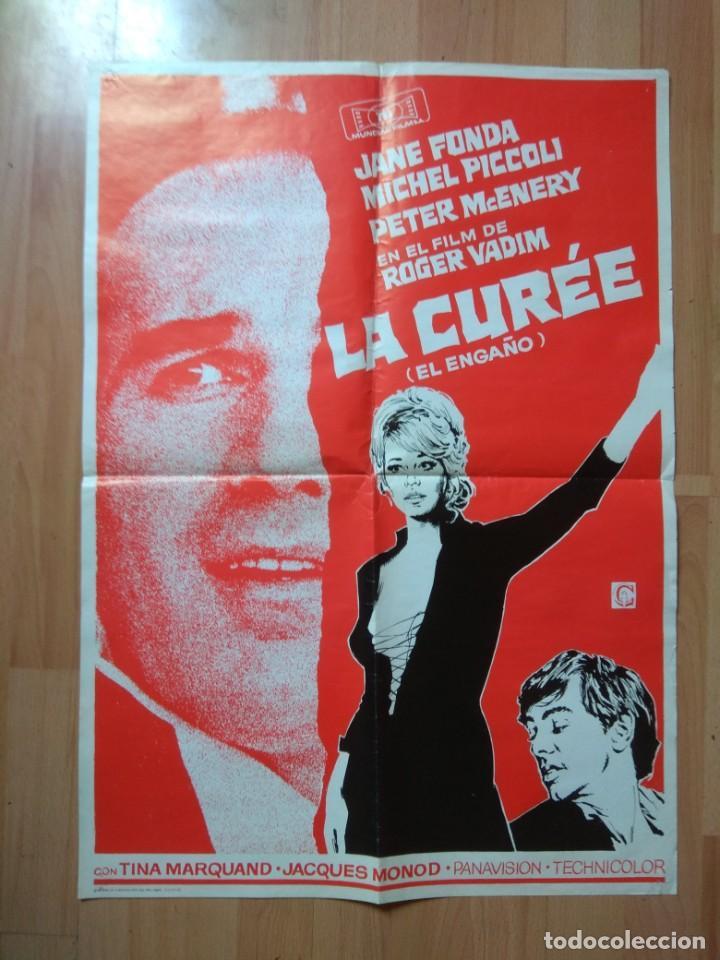 POS-2-POSTER DE LA PELICULA-- LA CUREÉ (EL ENGAÑO) (Cine - Posters y Carteles - Aventura)