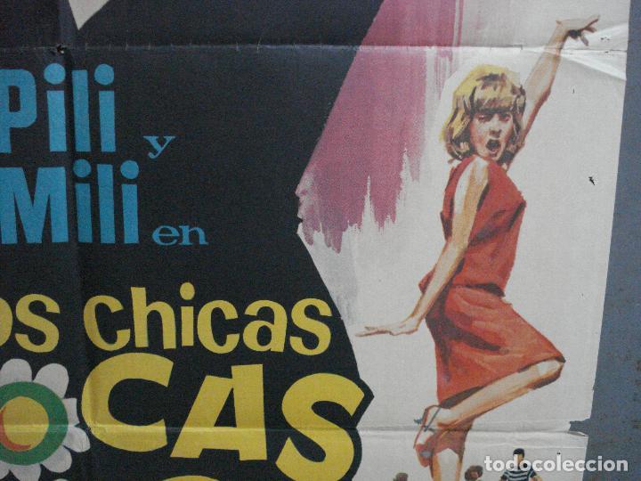 Cine: CDO 4042 DOS CHICAS LOCAS LOCAS PILI Y MILI MIGUEL RIOS PEDRO LAZAGA JANO POSTER ORIG 70X100 ESTRENO - Foto 8 - 211678726