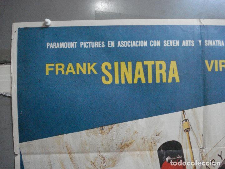 Cine: CDO 4044 ASALTO AL QUEEN MARY FRANK SINATRA POSTER ORIGINAL 70X100 ESTRENO - Foto 2 - 211681404