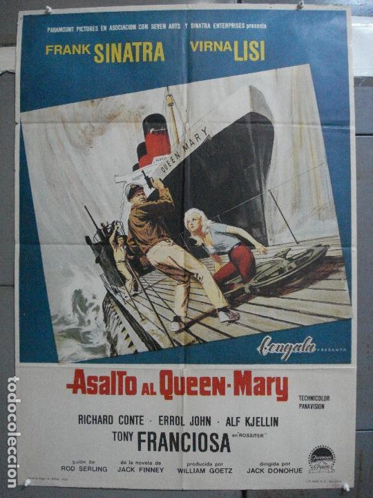 CDO 4044 ASALTO AL QUEEN MARY FRANK SINATRA POSTER ORIGINAL 70X100 ESTRENO (Cine - Posters y Carteles - Acción)