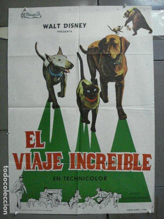 CDO 4056 EL VIAJE INCREIBLE WALT DISNEY PERROS GATO SIAMES POSTER ORIGINAL 70X100 ESTRENO (Cine - Posters y Carteles - Infantil)