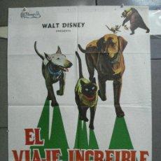 Cine: CDO 4056 EL VIAJE INCREIBLE WALT DISNEY PERROS GATO SIAMES POSTER ORIGINAL 70X100 ESTRENO. Lote 211690744