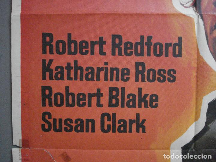 Cine: CDO 4057 EL VALLE DEL FUGITIVO ROBERT REDFORD KATHARINE ROSS POSTER ORIGINAL 70X100 ESTRENO - Foto 3 - 211690994