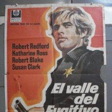 Cine: CDO 4057 EL VALLE DEL FUGITIVO ROBERT REDFORD KATHARINE ROSS POSTER ORIGINAL 70X100 ESTRENO. Lote 211690994