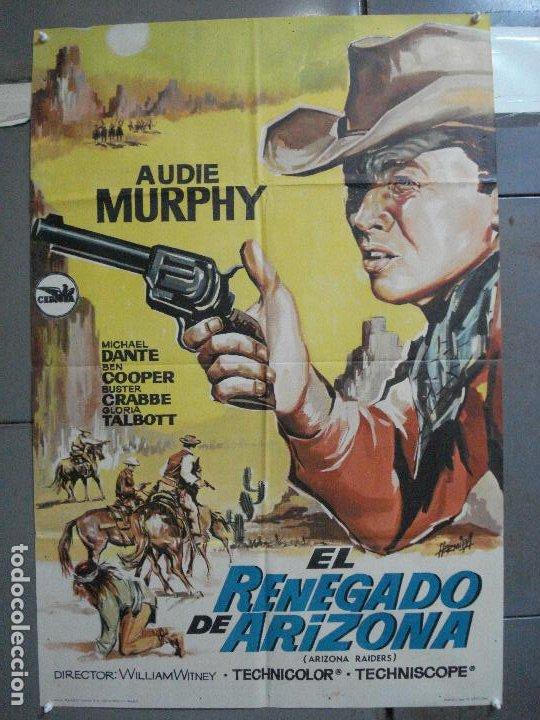 CDO 4066 EL RENEGADO DE ARIZONA AUDIE MURPHY HERMIDA POSTER ORIGINAL 70X100 ESTRENO (Cine - Posters y Carteles - Westerns)