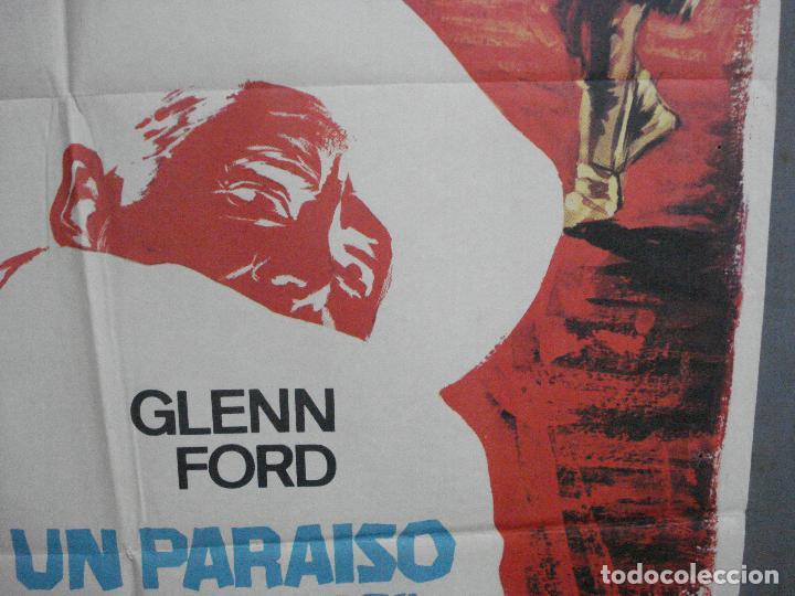 Cine: CDO 4070 UN PARAISO A GOLPES DE REVOLVER GLENN FORD CAROLYN JONES POSTER ORIGINAL 70X100 ESTRENO - Foto 8 - 211695766