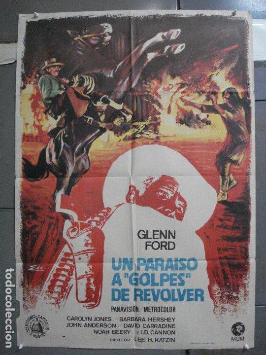 CDO 4070 UN PARAISO A GOLPES DE REVOLVER GLENN FORD CAROLYN JONES POSTER ORIGINAL 70X100 ESTRENO (Cine - Posters y Carteles - Westerns)