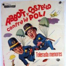 Cine: ABBOTT Y COSTELLO CONTRA LA POLI. CARTEL ORIGINAL DE LA PELÍCULA (1955).. Lote 211728553