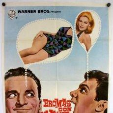 Cine: BROMAS CON MI MUJER... ¡NO! (TONY CURTIS). CARTEL ORIGINAL DEL ESTRENO (1966).. Lote 211729089