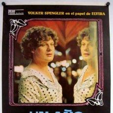 Cine: UN AÑO CON 13 LUNAS (RAINER WERNER FASSBINDER). CARTEL ORIGINAL DEL ESTRENO (1978).. Lote 211731001