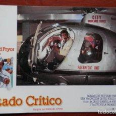 Cine: 2 LOBBY CARD - ESTADO CRÍTICO - 34 X 24 CENTÍMETROS. Lote 211746796