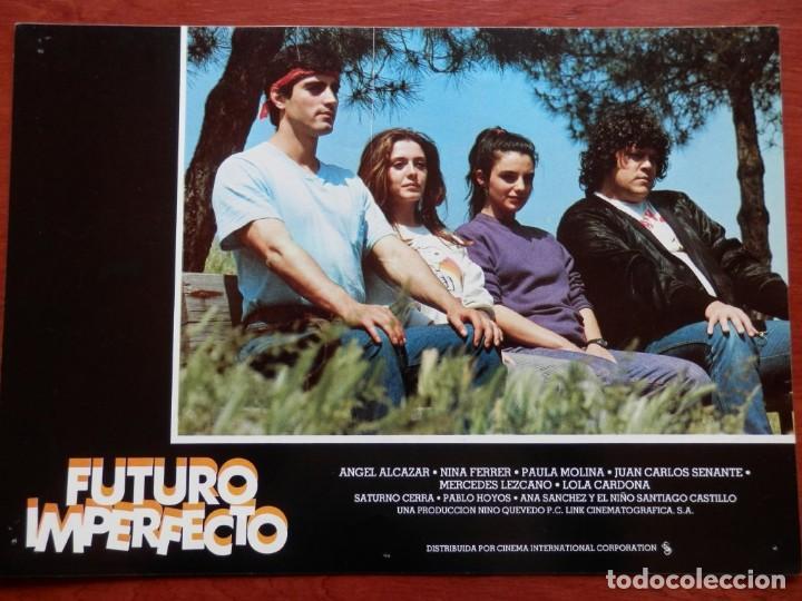 2 LOBBY CARD - FUTURO IMPERFECTO - 34 X 24 CENTÍMETROS (Cine - Posters y Carteles - Comedia)