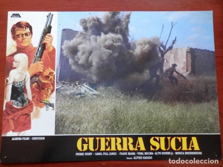 3 LOBBY CARD - GUERRA SUCIA - 34 X 24 CENTÍMETROS (Cine - Posters y Carteles - Acción)
