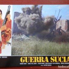 Cine: 3 LOBBY CARD - GUERRA SUCIA - 34 X 24 CENTÍMETROS. Lote 211747757