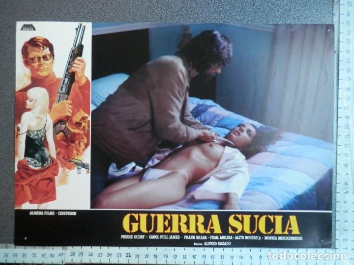Cine: 3 LOBBY CARD - GUERRA SUCIA - 34 X 24 CENTÍMETROS - Foto 2 - 211747757