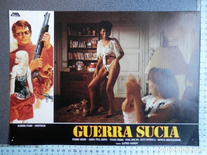Cine: 3 LOBBY CARD - GUERRA SUCIA - 34 X 24 CENTÍMETROS - Foto 3 - 211747757