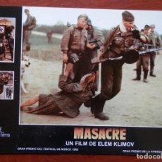 Cine: LOBBY CARD - MASACRE - 34 X 24 CENTÍMETROS. Lote 211752991