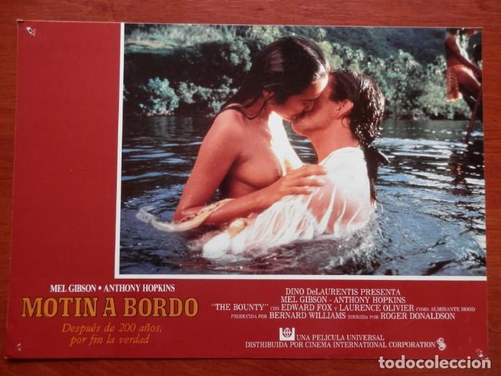 Cine: 2 LOBBY CARD - MOTÍN A BORDO - 34 X 24 CENTÍMETROS - Foto 2 - 211753200