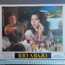 Cine: 2 LOBBY CARD - RIO ABAJO - 34 X 24 CENTÍMETROS. Lote 211753335