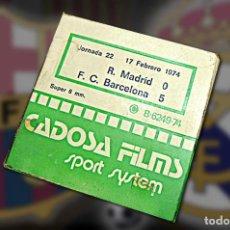 Cine: PELÍCULA SUPER 8, R. MADRID-BARCELONA, 19. Lote 211760398