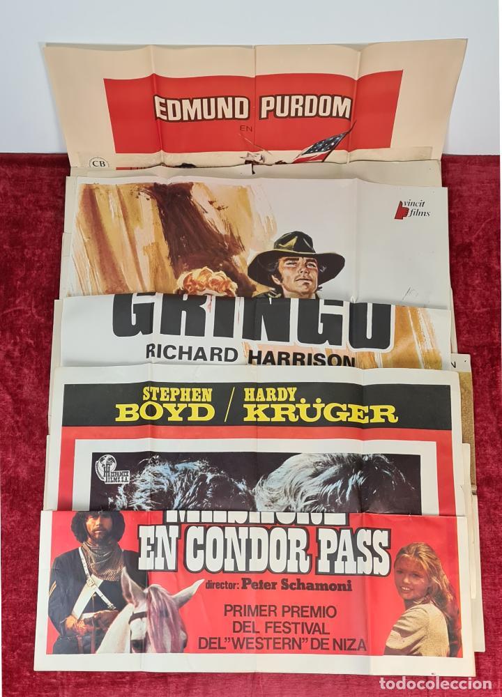 COLECCIÓN DE 11 CARTELES DE CINE. VARIAS IMPRENTAS Y PELICULAS. AÑOS 60/70. (Cine - Posters y Carteles - Westerns)