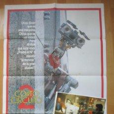Cine: CARTEL CINE + 8 FOTOCROMOS CORTOCIRCUITO 2 FISHER STEVENS 1988 CCF91. Lote 211786451