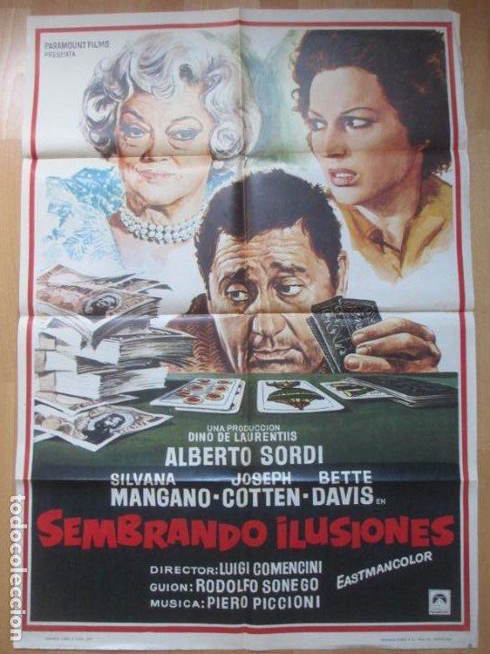 Cine: CARTEL CINE + 12 FOTOCROMOS SEMBRANDO ILUSIONES SILVANA MANGANO BETTE DAVIS 1973 CCF94 - Foto 2 - 211787740
