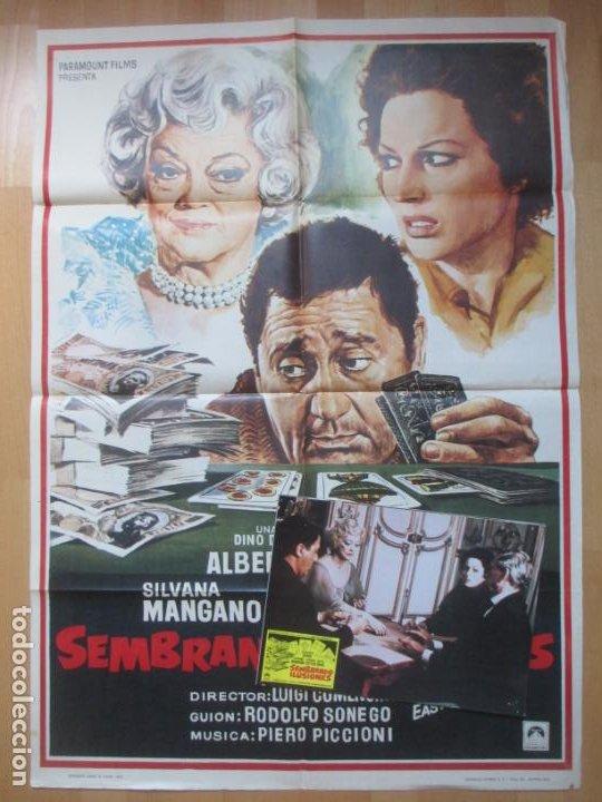CARTEL CINE + 12 FOTOCROMOS SEMBRANDO ILUSIONES SILVANA MANGANO BETTE DAVIS 1973 CCF94 (Cine - Posters y Carteles - Comedia)