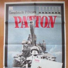 Cine: CARTEL CINE + 12 FOTOCROMOS PATTON GEORGE C. SCOTT 1980 CCF99. Lote 211793155