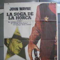 Cine: CDO 4077 LA SOGA DE LA HORCA JOHN WAYNE POSTER ORIGINAL 70X100 ESTRENO. Lote 211794962