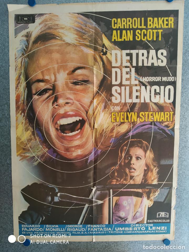 DETRÁS DEL SILENCIO. CARROLL BAKER, ALAN SCOTT, IDA GALLI. AÑO 1972. POSTER ORIGINAL (Cine - Posters y Carteles - Terror)