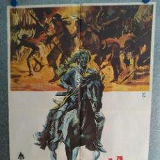 Cine: LA GRAN AVENTURA INDIA. JOHNNY CRAWFORD, JAY SILVERHEELS. AÑO 1975. POSTER ORIGINAL. Lote 269096533