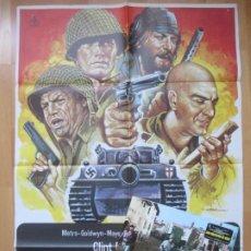 Cine: CARTEL CINE + 12 FOTOCROMOS LOS VIOLENTOS DE KELLY CLINT EASTWOOD 1981 MAC CCF104. Lote 211795635
