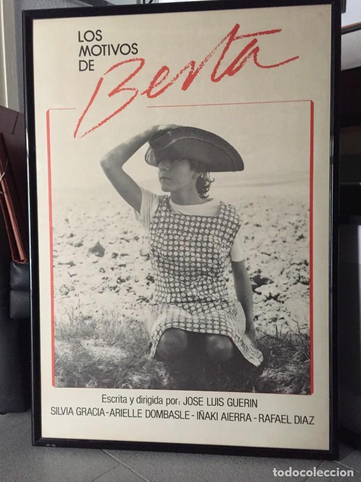 LOS MOTIVOS DE BERTA, PREMIO NACIONAL DE CINEMATOGRAFÍA (Cine - Posters y Carteles - Suspense)