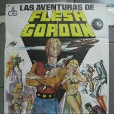 Cine: CDO 4110 AVENTURAS DE FLESH GORDON JASON WILLIAMS CULT SEXY SCIFI COMIC JANO POSTER ORIG 70X100 ESTR. Lote 211813737