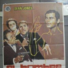 Cine: CDO 4115 EL HOMBRE INVISIBLE DEAN JONES ANTONIO MARGHERITI POSTER ORIGINAL ESTRENO 70X100. Lote 211815296