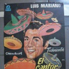 Cine: CDO 4118 EL CANTOR DE MEXICO LUIS MARIANO POSTER ORIGINAL 70X100 ESPAÑOL R-68. Lote 211816450