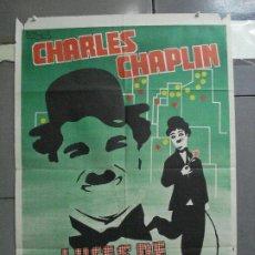 Cine: CDO 4120 LUCES DE LA CIUDAD CHARLES CHAPLIN POSTER ORIGINAL 70X100 ESPAÑOL R-73. Lote 211817611
